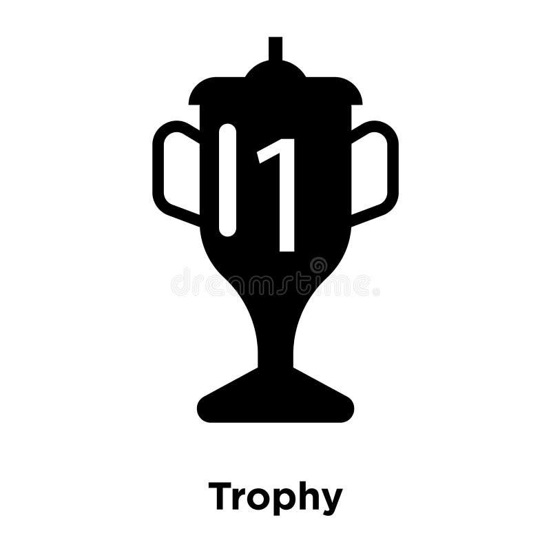 Het pictogramvector van het trofeesilhouet op witte achtergrond, embleem wordt geïsoleerd dat stock illustratie