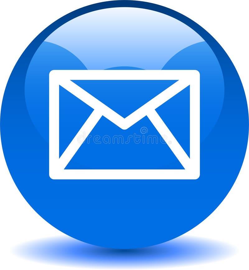 Het het pictogramweb van de contactpost knoopt blauw dicht royalty-vrije illustratie