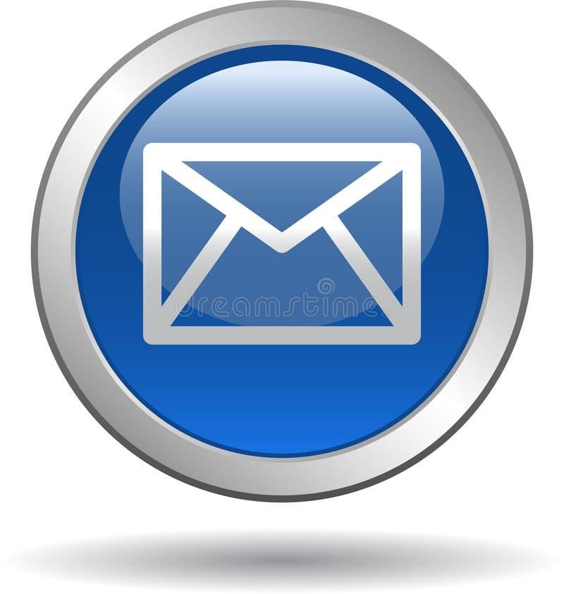 Het het pictogramweb van de contactpost knoopt blauw dicht vector illustratie