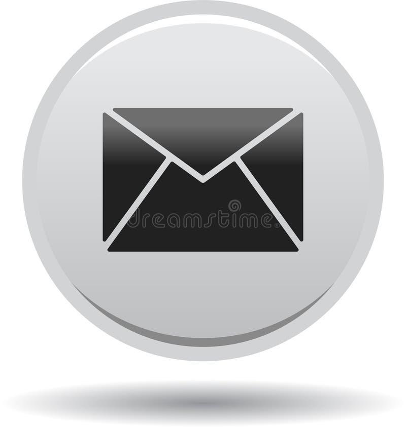 Het het pictogramweb van de contactpost knoopt grijs dicht stock illustratie