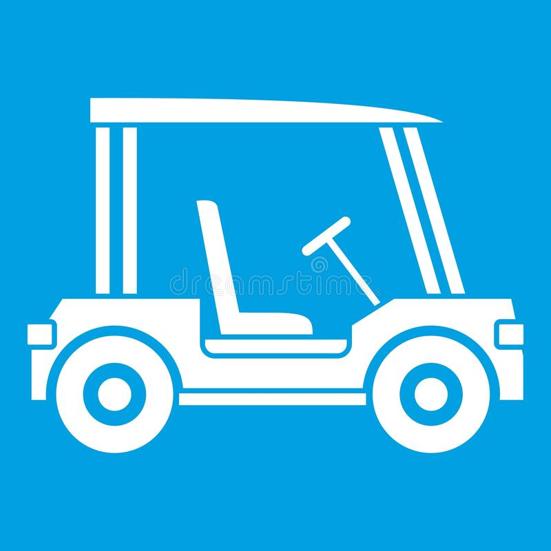 Het pictogramwit van het golfclubvoertuig royalty-vrije illustratie
