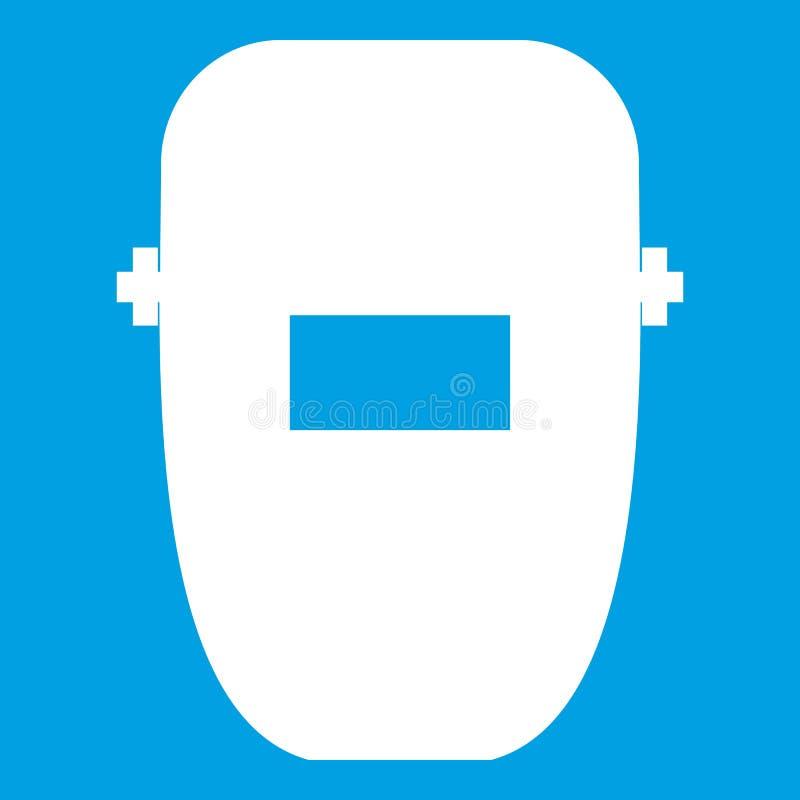Het pictogramwit van het lassenmasker vector illustratie