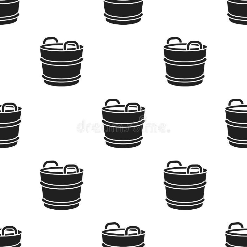 Het pictogramzwarte van de melkemmer Enige bio, eco, biologisch productpictogram van de grote melkzwarte stock illustratie