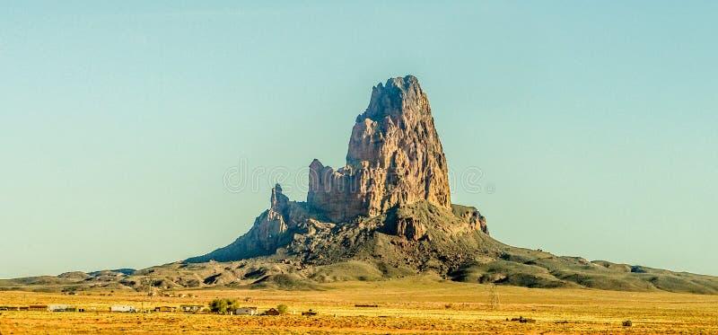 Het Piek enkel noorden van Gr Capitan van Kayenta Arizona in Monumentenvallei stock afbeelding