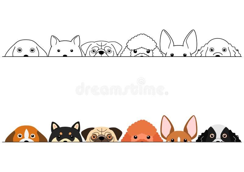 Het piepen de kleine reeks van de hondengrens royalty-vrije illustratie
