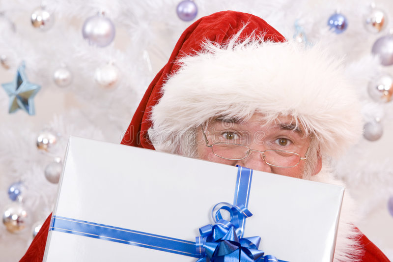 Het piepen Kerstman royalty-vrije stock foto's