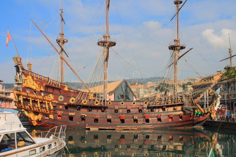 Het piraatschip stock fotografie