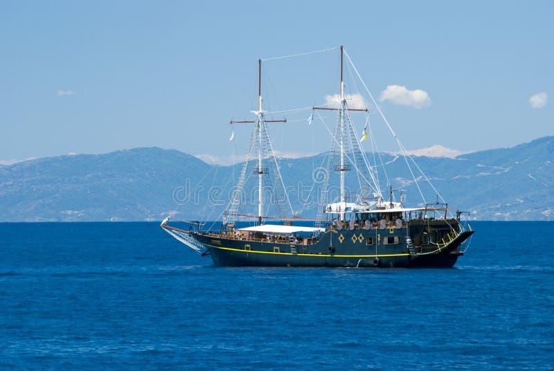 Het piraterijschip royalty-vrije stock afbeeldingen