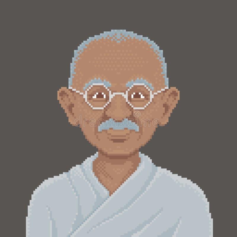 Het Pixel Art Illustration van Mahatmagandhi vector illustratie