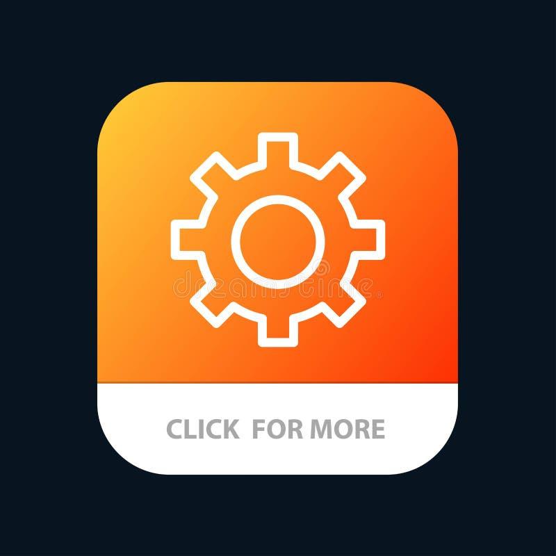 Het plaatsen, Toestel, Interface, de Knoop van de Gebruikersmobiele toepassing Android en IOS Lijnversie vector illustratie