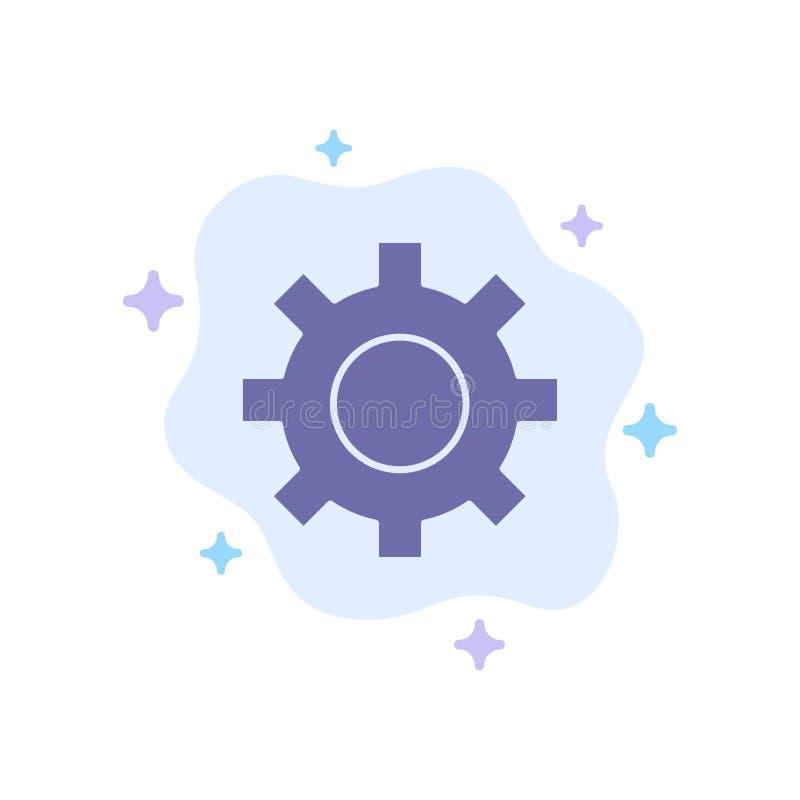 Het plaatsen, Toestel, Interface, Gebruikers Blauw Pictogram op Abstracte Wolkenachtergrond stock illustratie