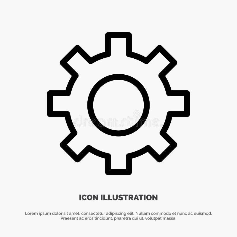 Het plaatsen, Toestel, Interface, het Pictogramvector van de Gebruikerslijn stock illustratie