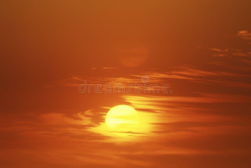 Het Plaatsen van de zon royalty-vrije stock afbeeldingen