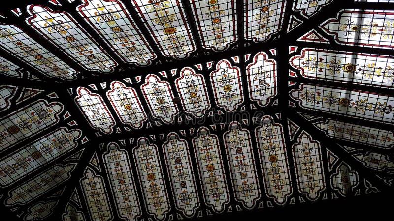Het plafond van het Bletchleypark stock foto