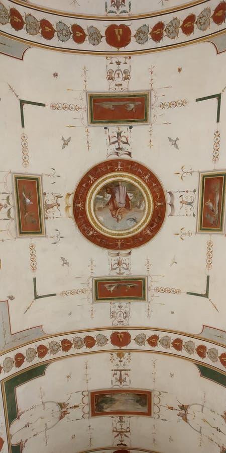 Het Plafond van de het Museumgang van Vatikaan stock foto