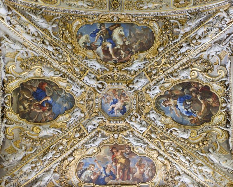 Het plafond van Frescoed royalty-vrije stock afbeeldingen