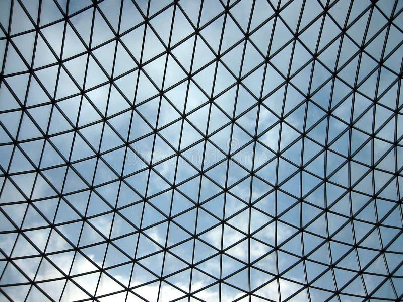 Het Plafond van het glas, British Museum stock afbeeldingen