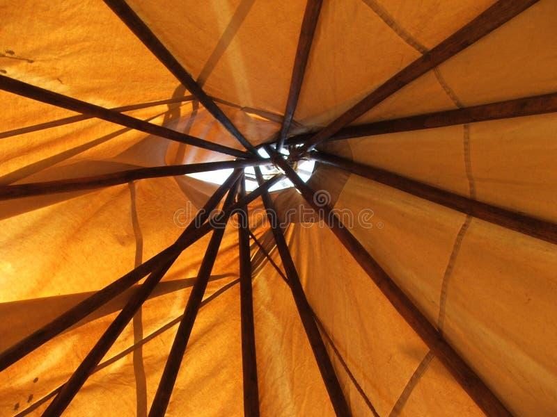 Het Plafond van het tipi door het dak royalty-vrije stock foto's