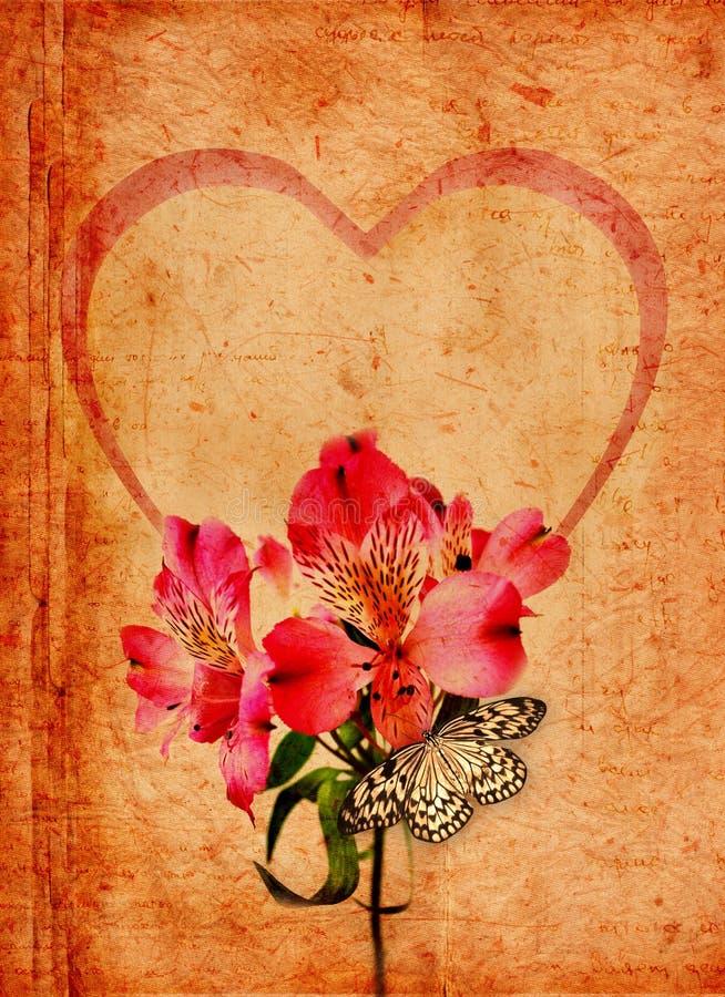 Het plakboek van de valentijnskaart royalty-vrije illustratie
