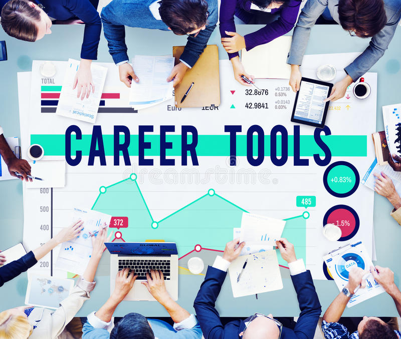Het Plan van carrièrehulpmiddelen het Concept van de Planningsstrategie royalty-vrije stock afbeeldingen