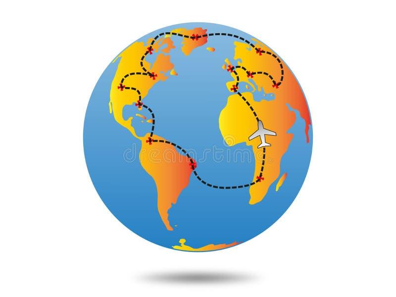 Het plan van de aardereis royalty-vrije stock fotografie
