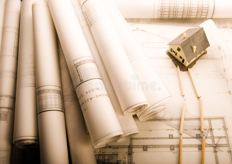 Het plan van de architectuur stock fotografie