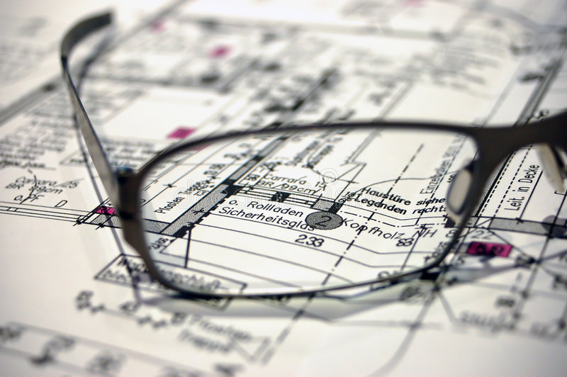 Het plan van de bouw royalty-vrije stock fotografie