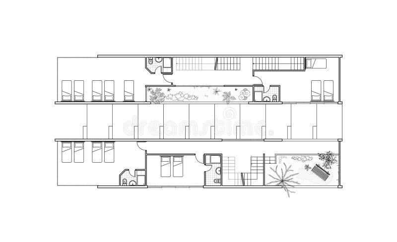 Het plan van de eerste verdieping royalty-vrije illustratie