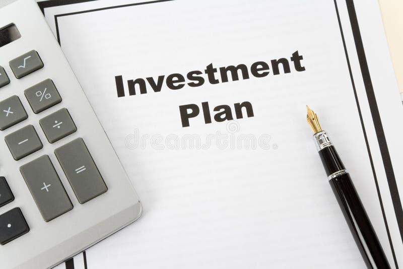 Het Plan van de investering royalty-vrije stock afbeelding