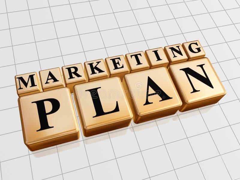 Het plan van de marketing stock afbeeldingen