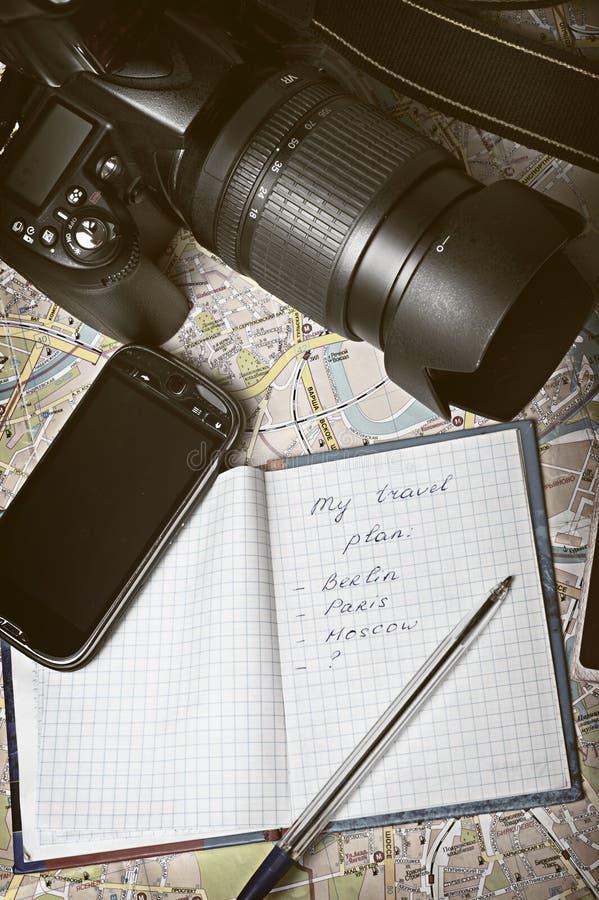 Het plan van de reis stock foto's