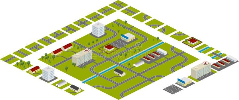 Het plan van de stad stock afbeelding
