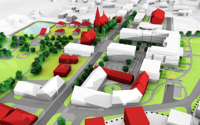 Het plan van de stad royalty-vrije illustratie