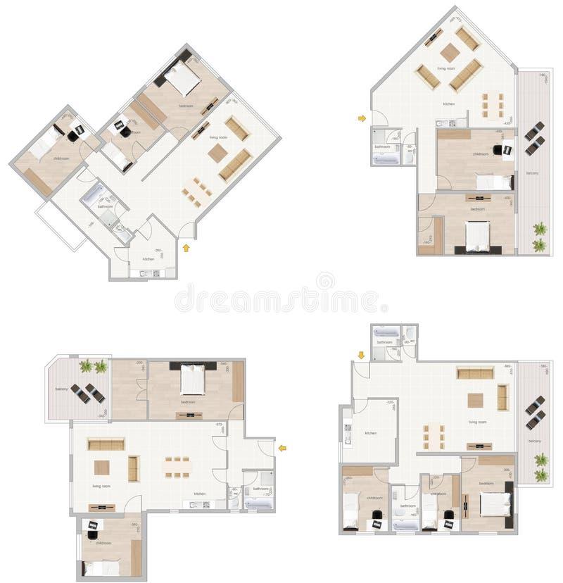 Het plan van de vloer stock illustratie