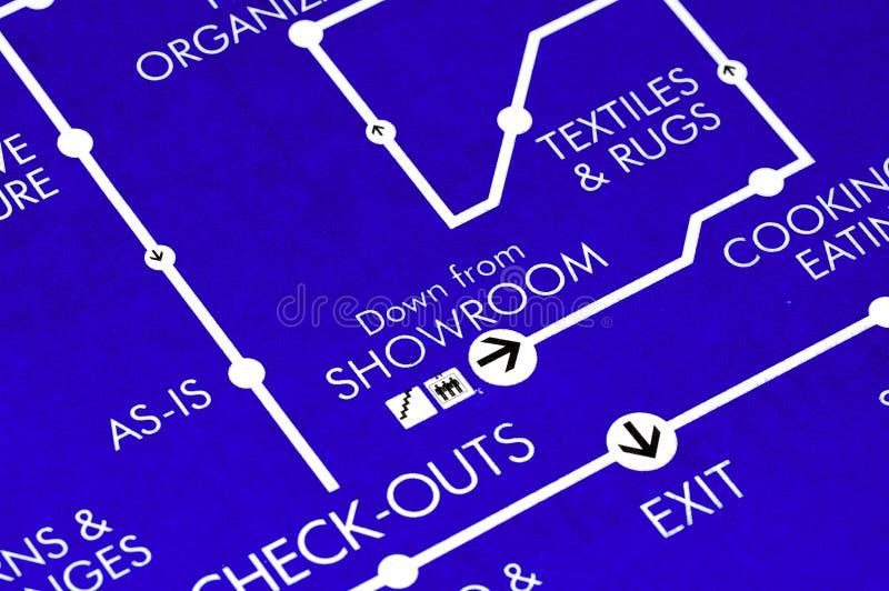 Het Plan van de vloer stock afbeelding