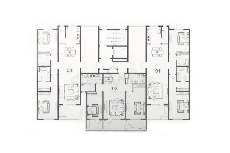 Het plan van de vloer stock foto's