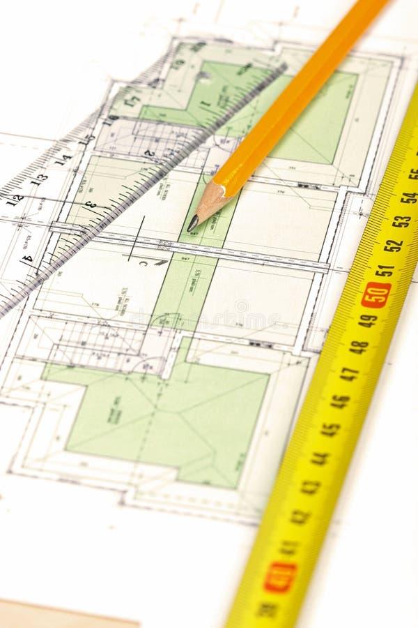 Het plan van de vloer [4] royalty-vrije stock afbeeldingen
