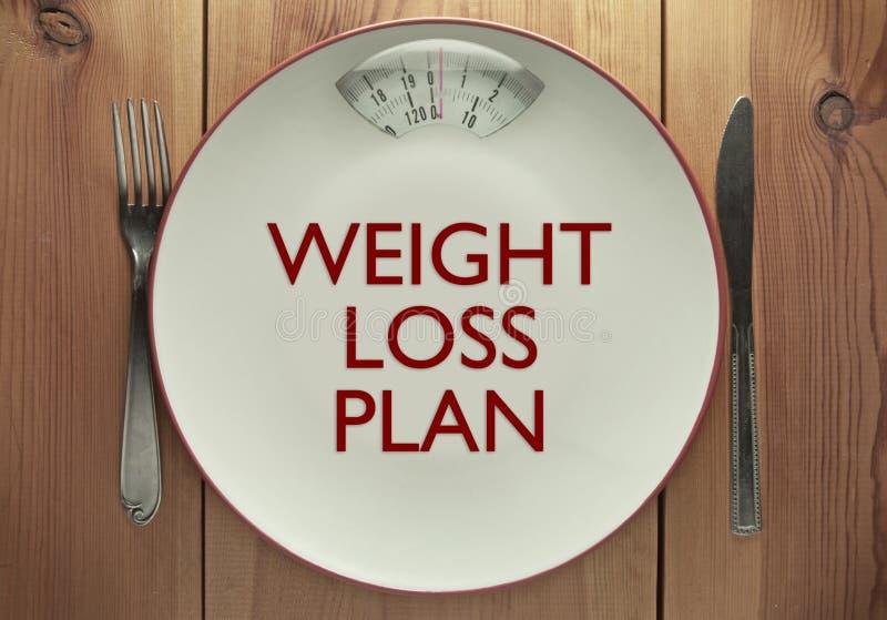 Het plan van het gewichtsverlies stock afbeelding