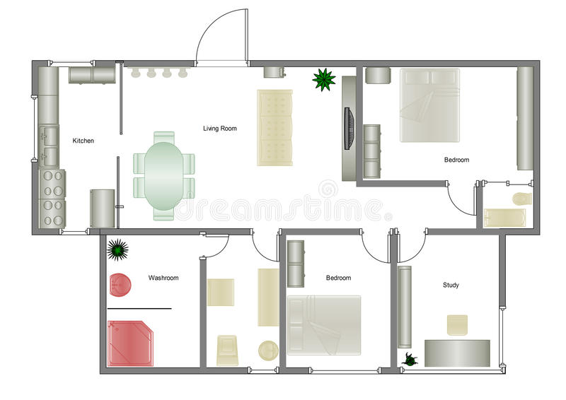 Het plan van het huis vector illustratie