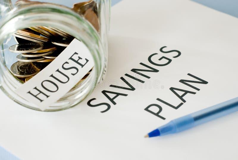 Het plan van huisbesparingen royalty-vrije stock afbeelding