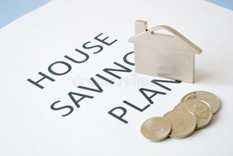Het plan van huisbesparingen stock foto