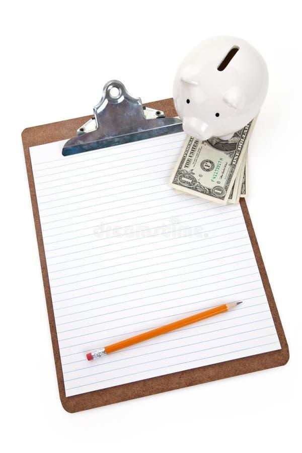 Het plan van huisfinanciën stock fotografie