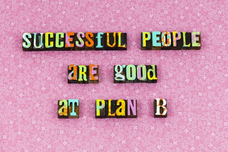 Het plan van succesmensen bereidt klaar letterzetsel voor stock foto's