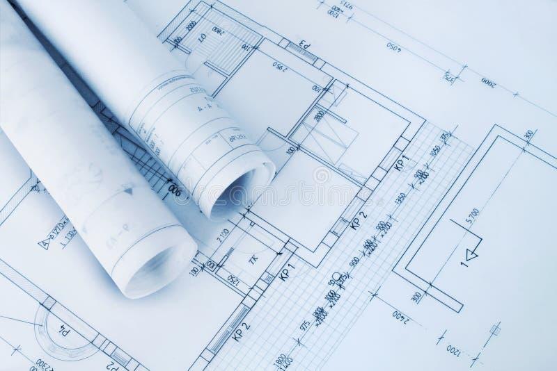 Het planblauwdrukken van de bouw