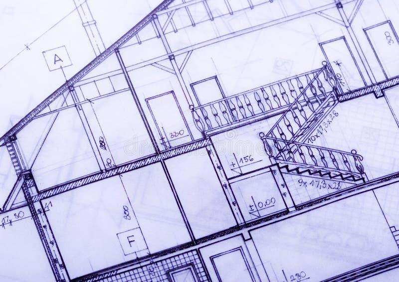 Het planblauwdrukken van het huis
