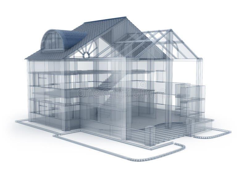 Het planhuis van de architectuur stock illustratie