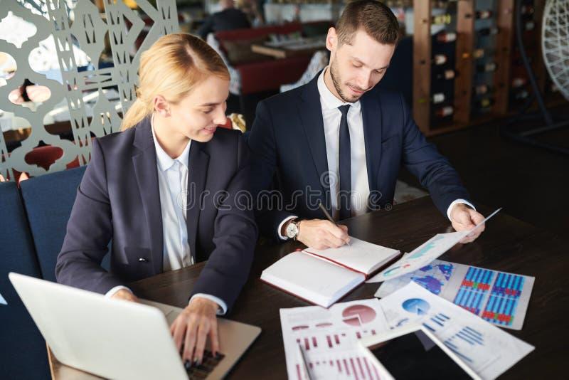 Het planningswerk samen royalty-vrije stock foto