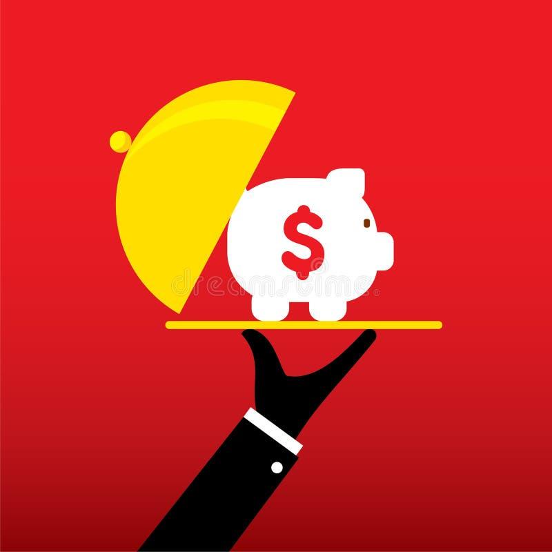 Het planontwerp van de geldbesparing stock illustratie