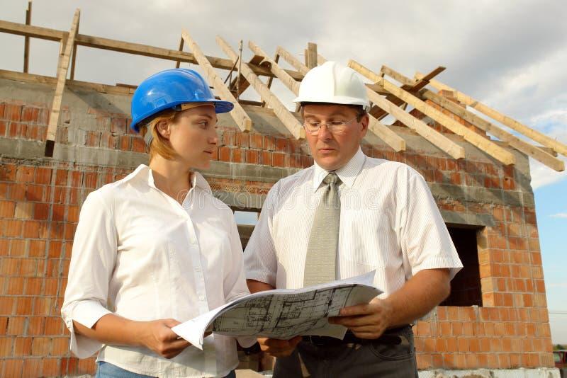 Het planstudie van de bouw stock afbeeldingen