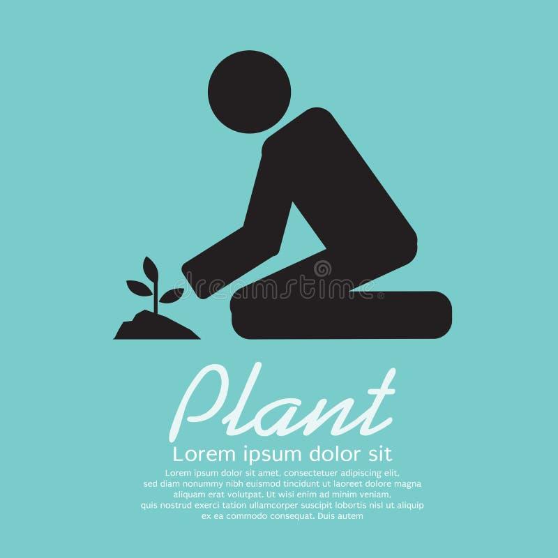 Het planten van Vectorillustratie royalty-vrije illustratie